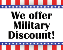 We offer Military Discount
