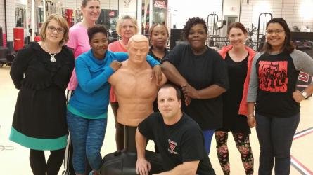 Women's Self Defense Class Group with instructor, Master Barley